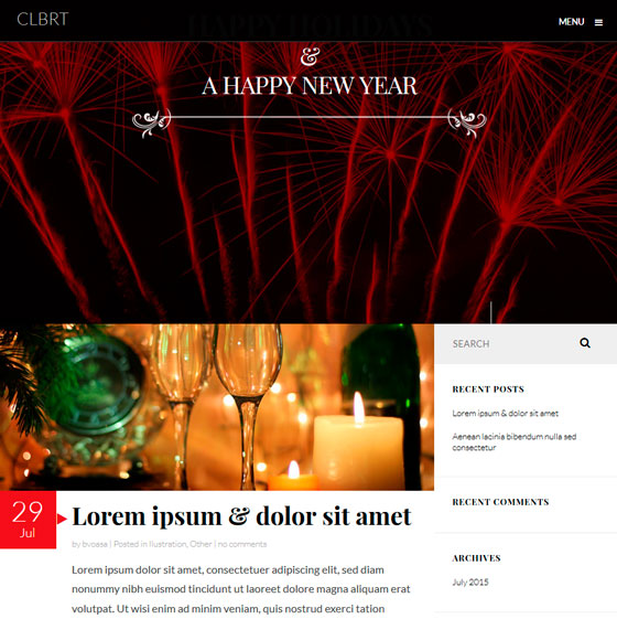 CLBRT WordPress шаблон