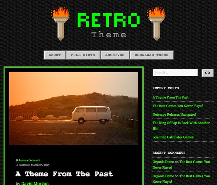 90s Retro WordPress шаблон