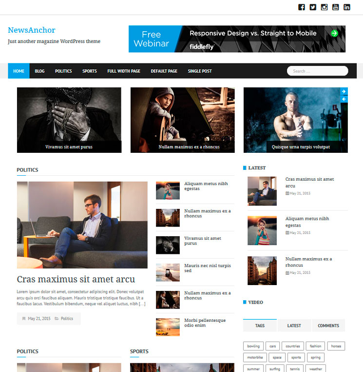 NewsAnchor WordPress шаблон
