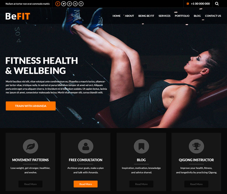 SKT BeFit WordPress шаблон