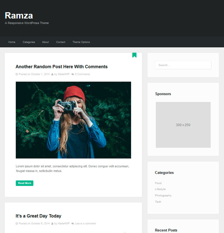 Ramza WordPress шаблон