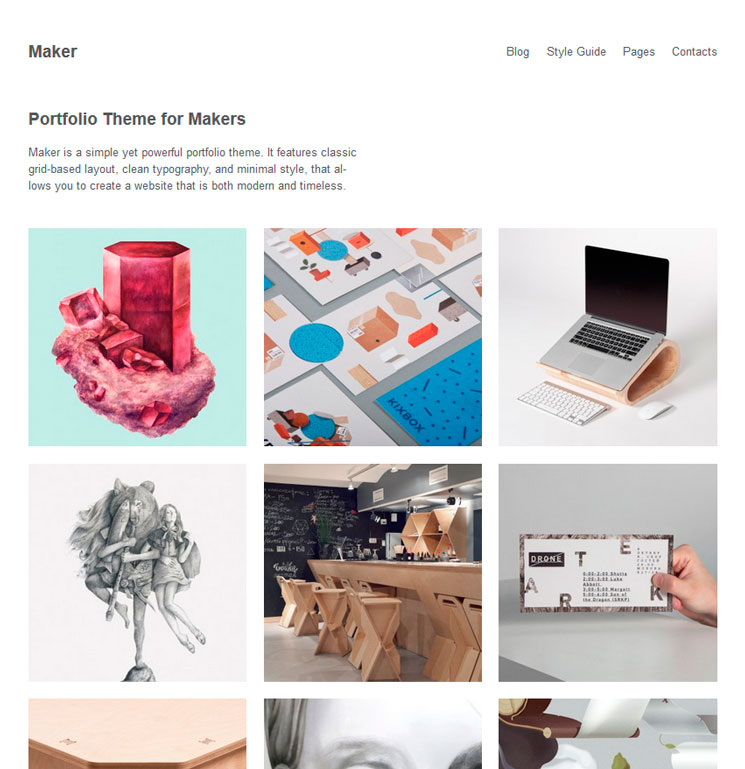 Maker WordPress шаблон