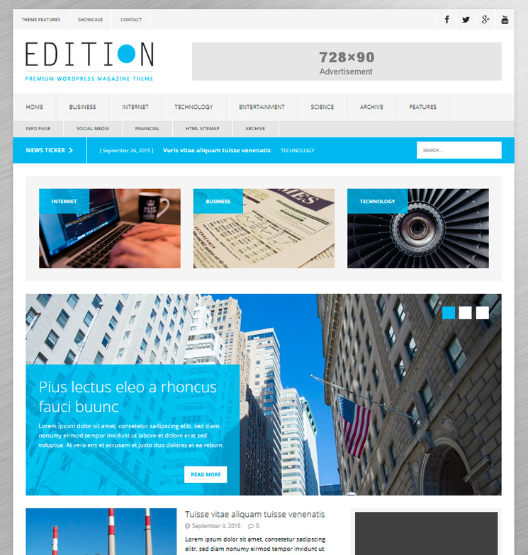 MH Edition lite WordPress шаблон
