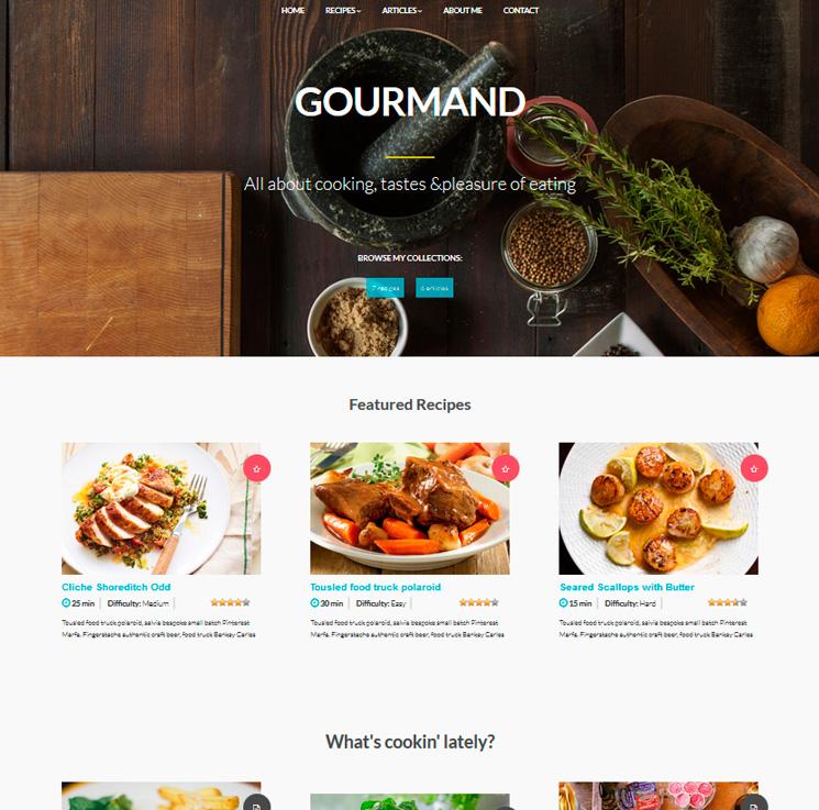Gourmand WordPress шаблон