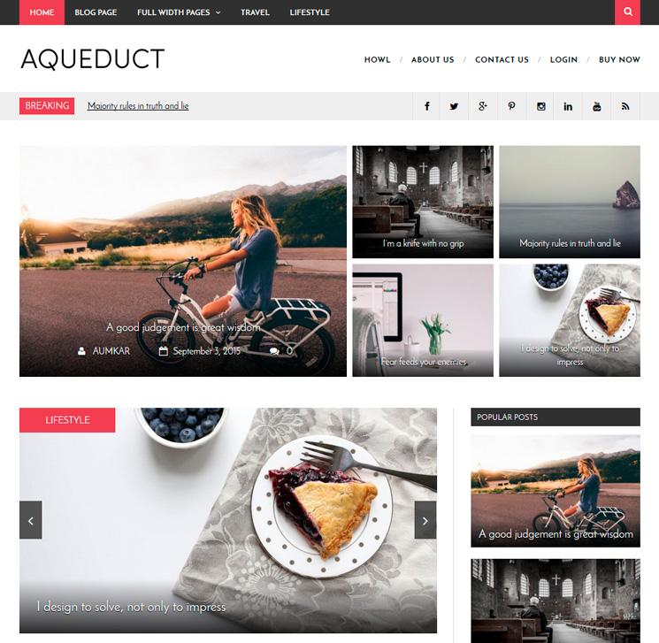 Aqueduct WordPress шаблон
