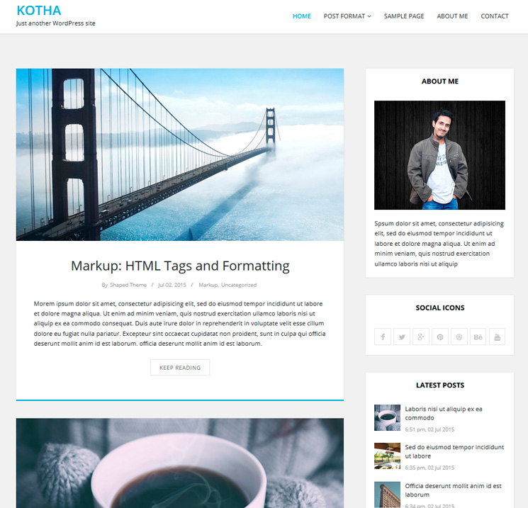 Kotha WordPress шаблон