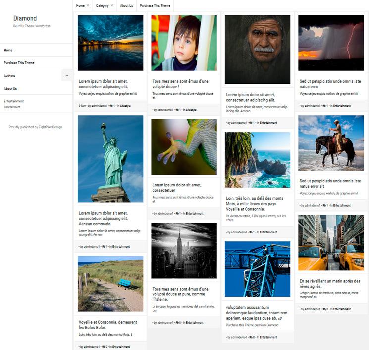 Diamond WordPress шаблон