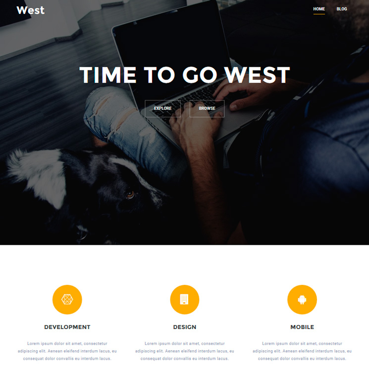 West WordPress шаблон