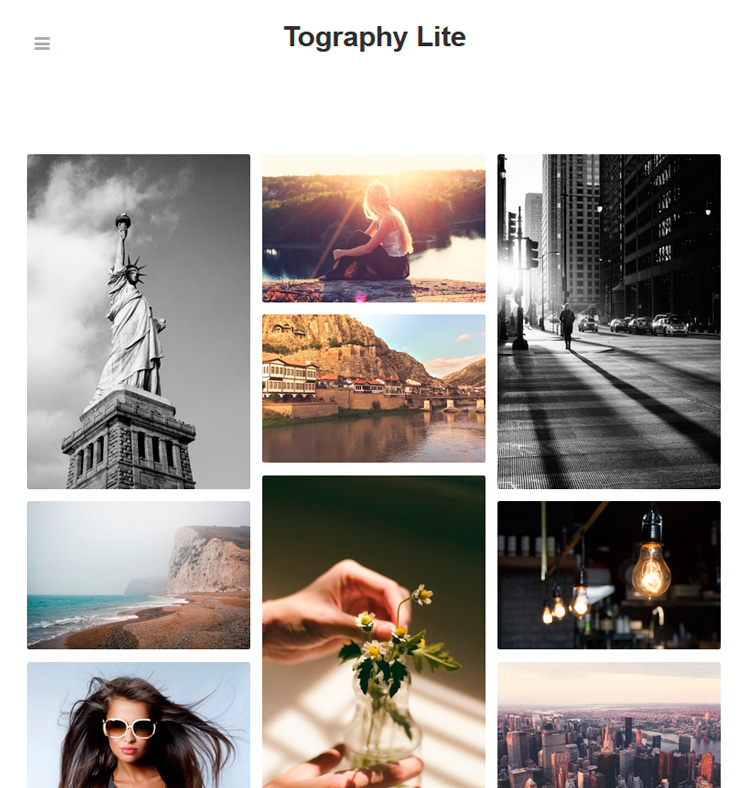 Tography Lite WordPress шаблон