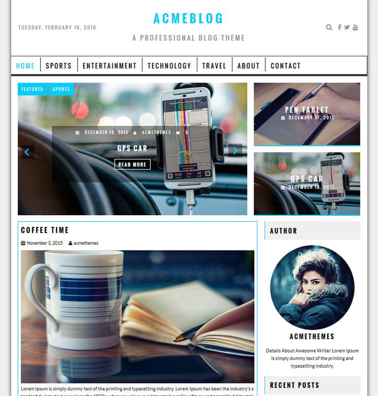 AcmeBlog WordPress шаблон