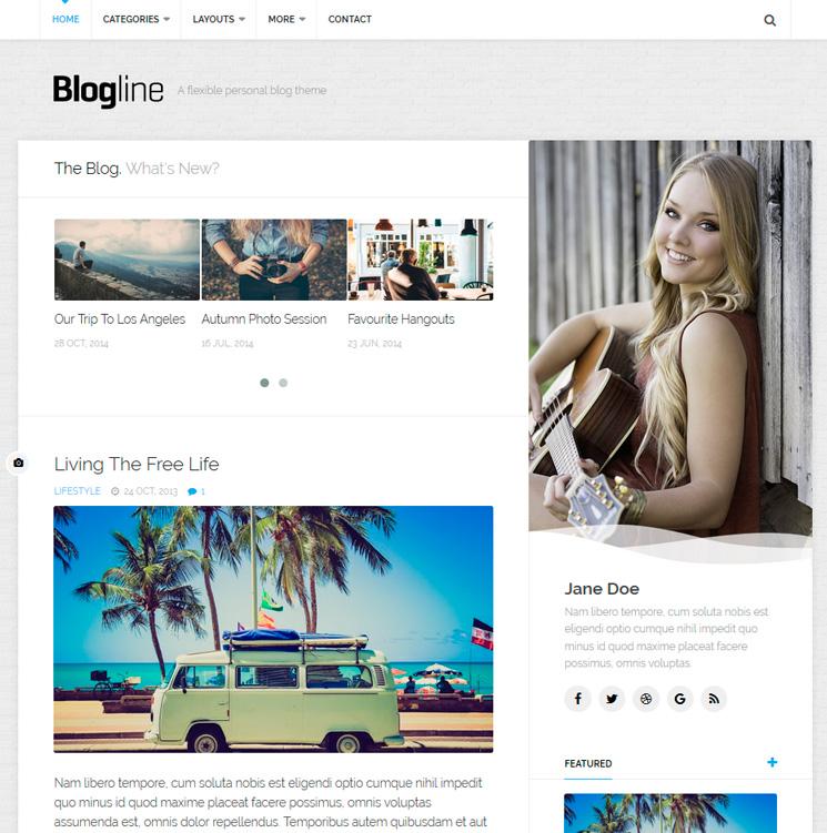 Blogline WordPress шаблон
