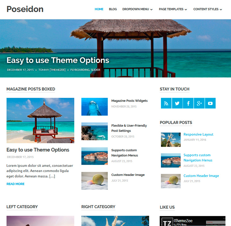 Poseidon WordPress шаблон