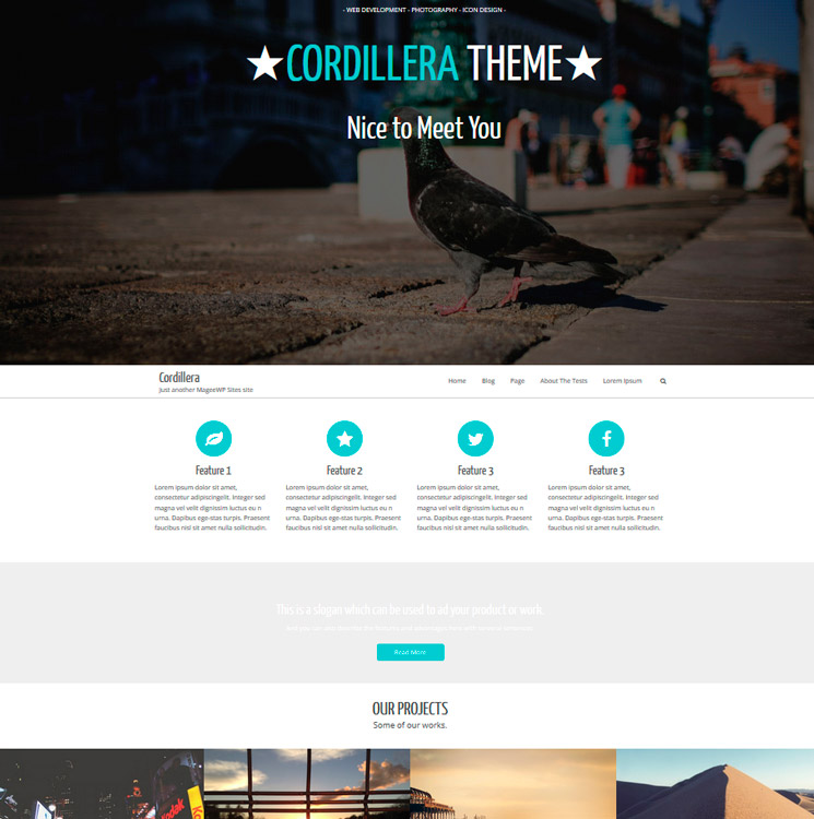 Cordillera WordPress шаблон