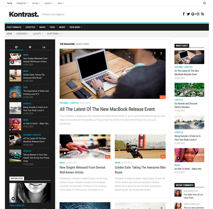 Kontrast WordPress шаблон
