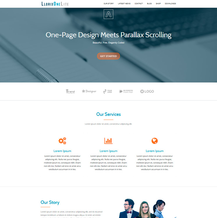 Llorix One Lite WordPress шаблон