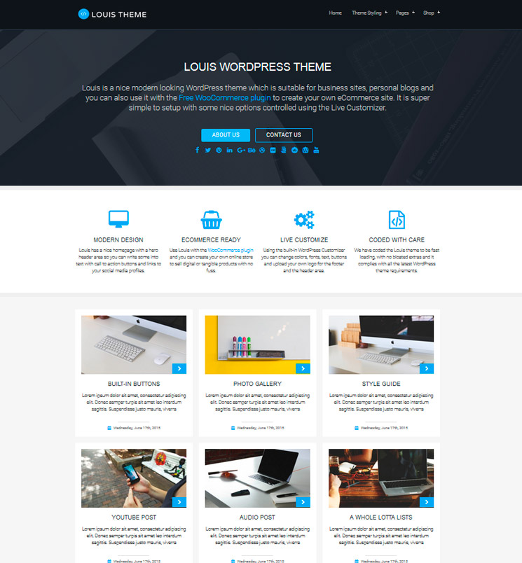 Louis WordPress шаблон