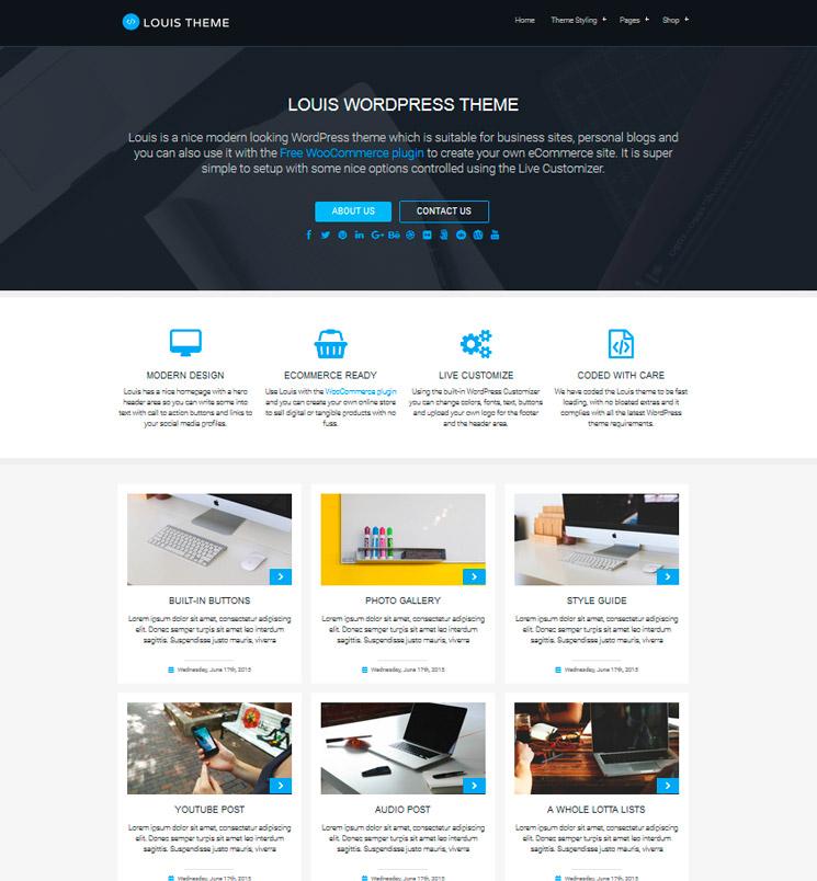 Louis WordPress шаблон