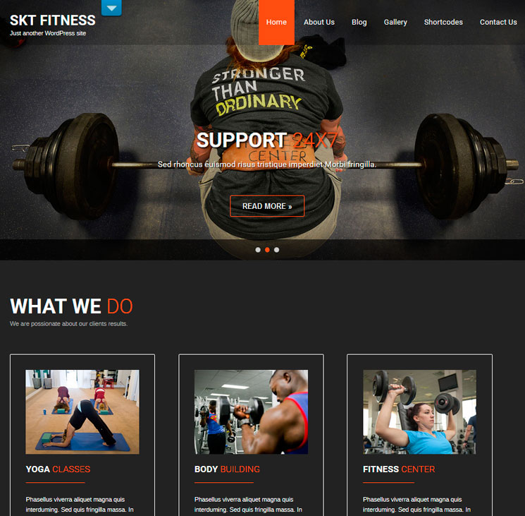 Fitness Lite WordPress шаблон