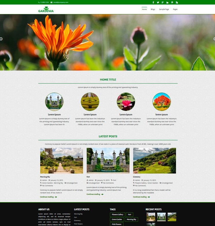 Gardenia WordPress шаблон