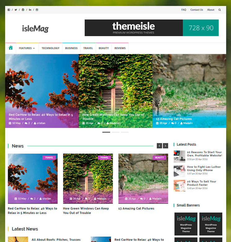 IsleMag WordPress шаблон
