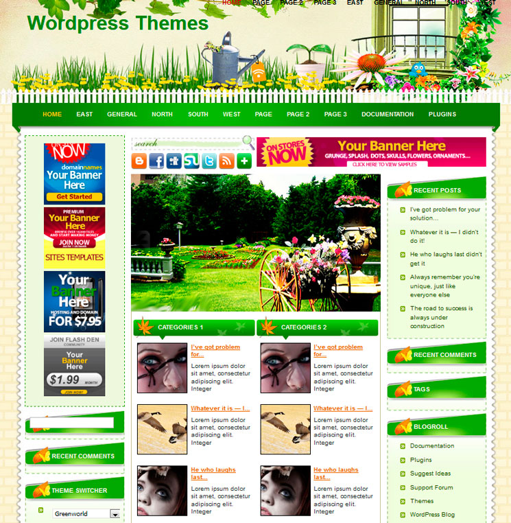 Greenworld WordPress шаблон