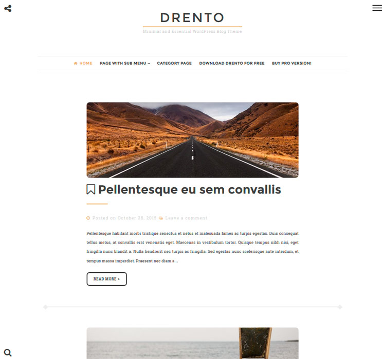 Drento WordPress шаблон