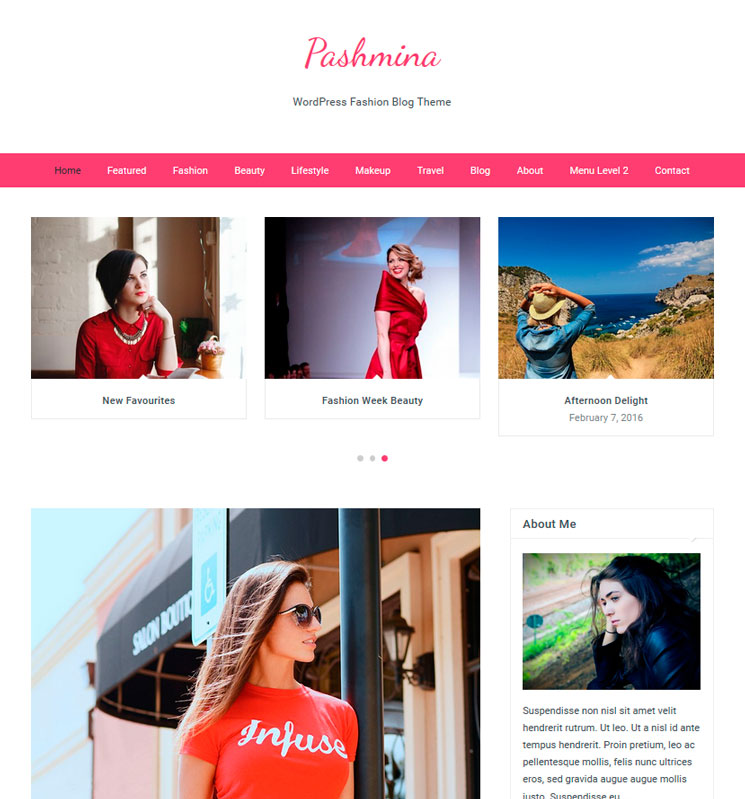 Pashmina WordPress шаблон