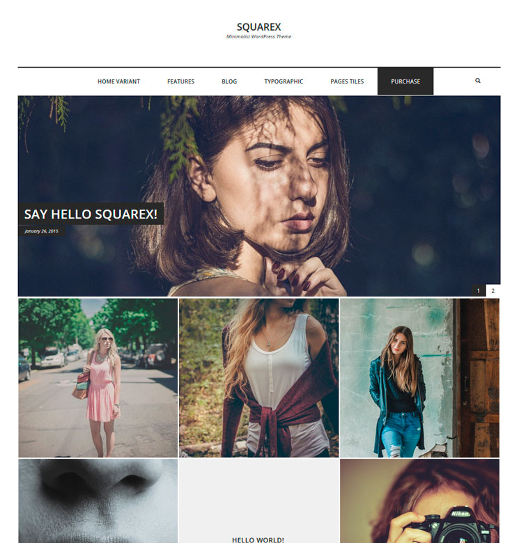Squarex Lite WordPress шаблон
