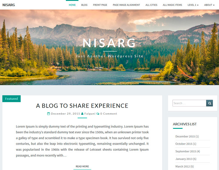 Nisarg WordPress шаблон