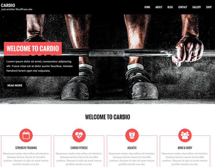 Cardio WordPress шаблон