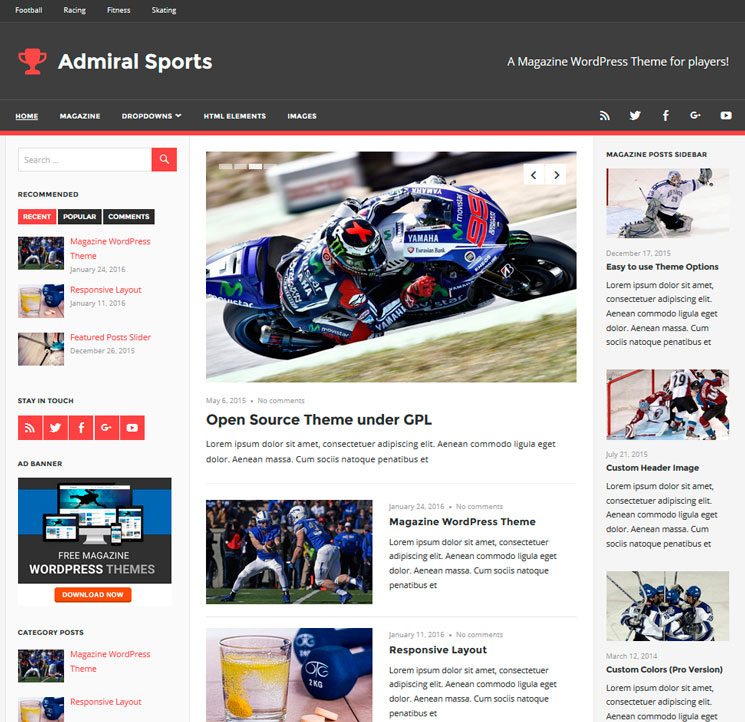 Admiral WordPress шаблон