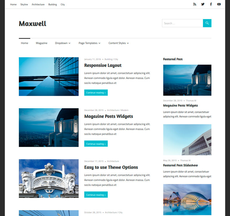 Maxwell WordPress шаблон