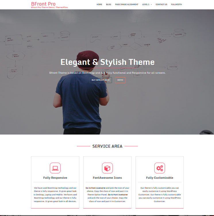 Bfront WordPress шаблон
