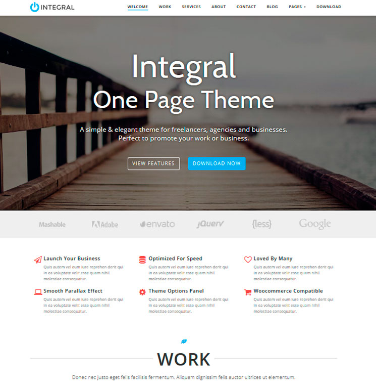 Integral WordPress шаблон