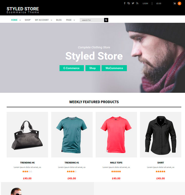 Styled Store WordPress шаблон