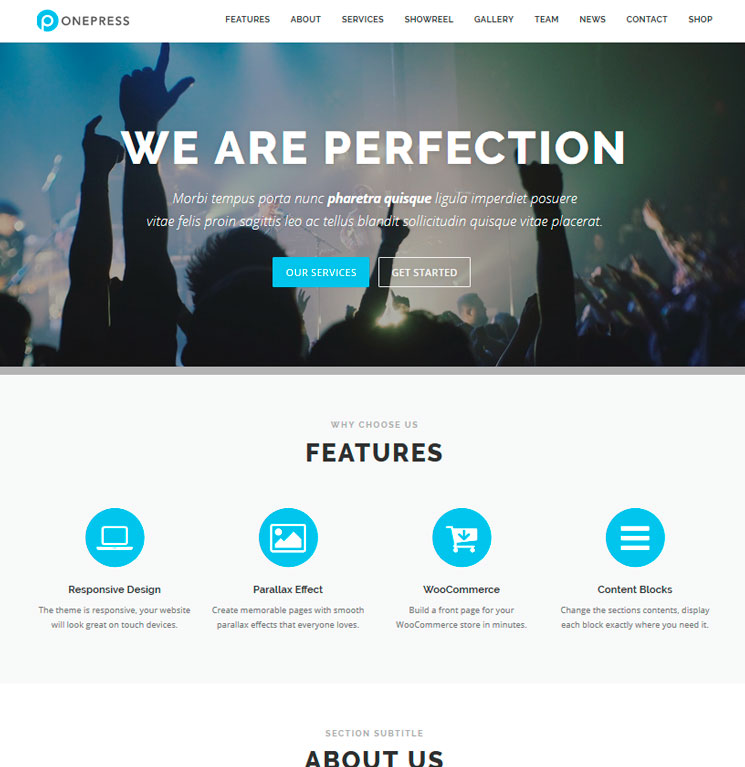 OnePress WordPress шаблон