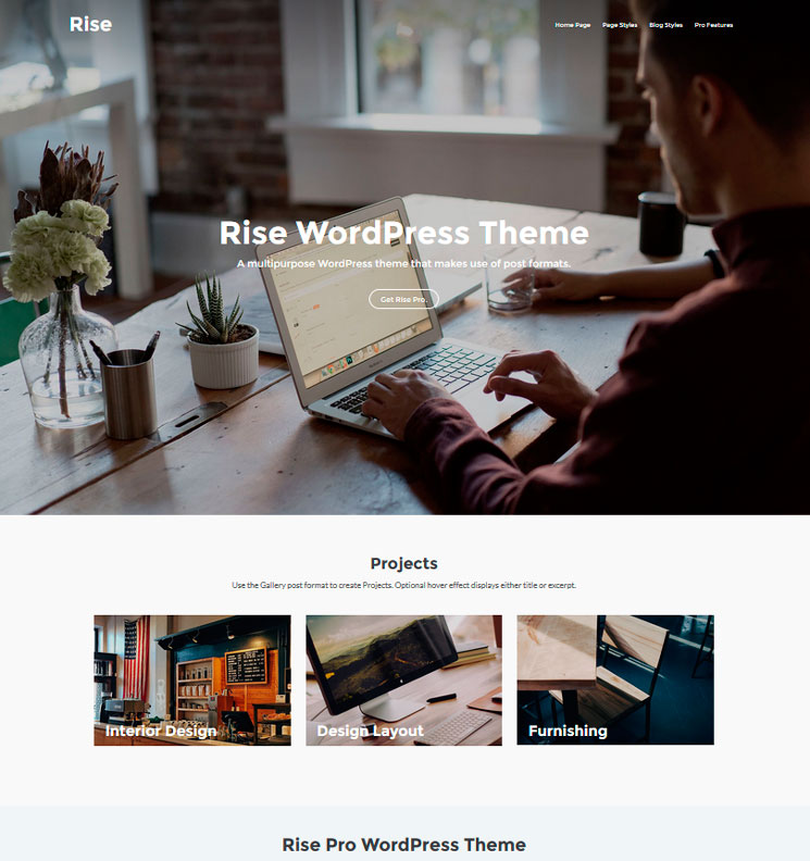 Rise WordPress шаблон