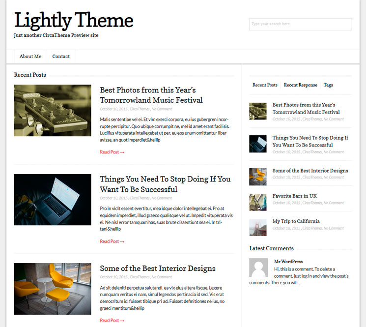 Lightly WordPress шаблон