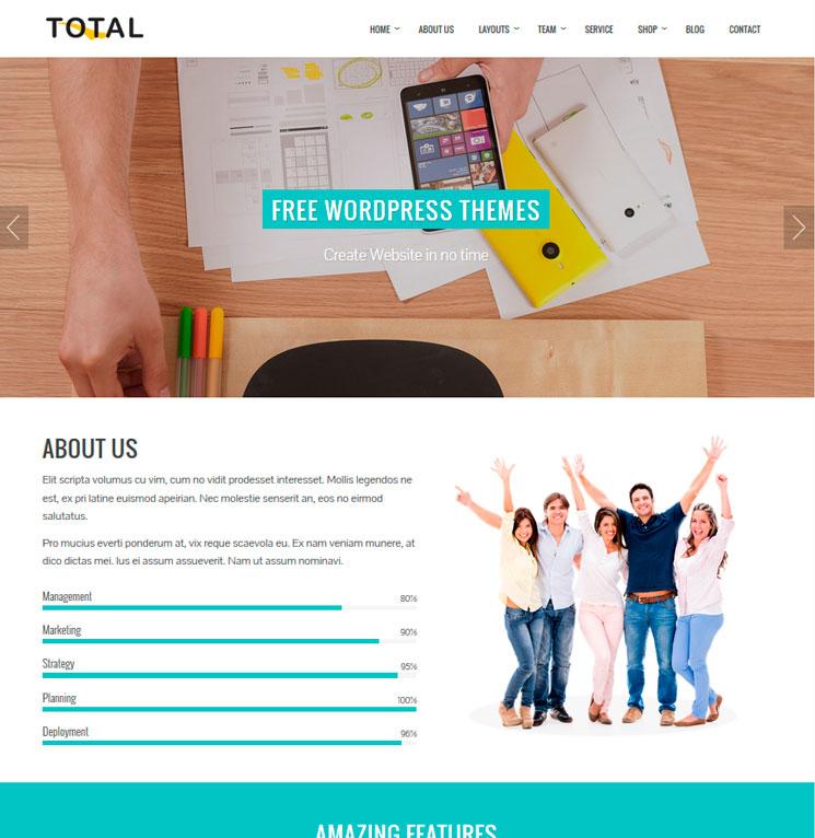 Total WordPress шаблон