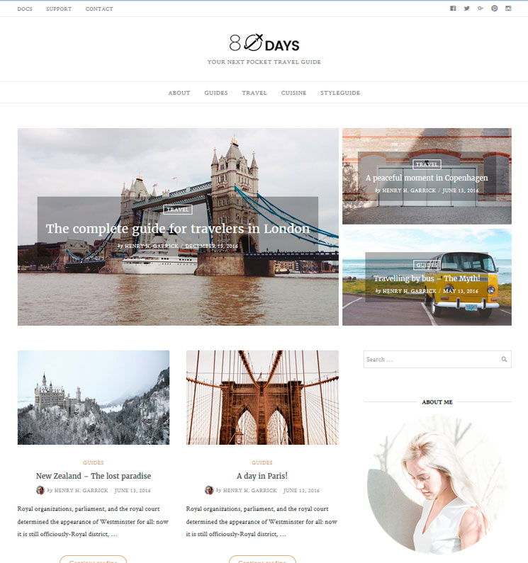 EightyDays Lite WordPress шаблон