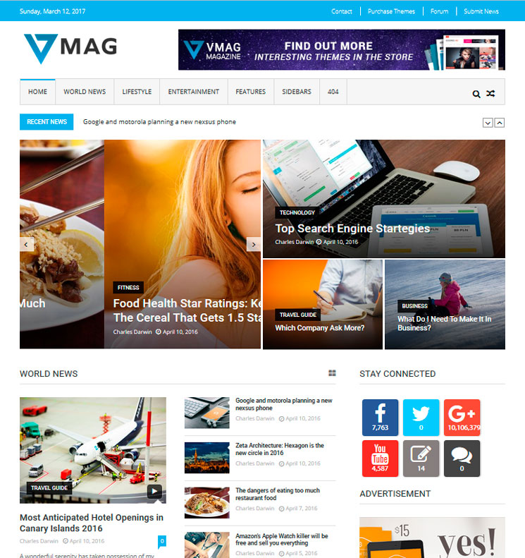 VMag WordPress шаблон