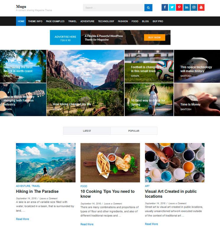 Mugu WordPress шаблон