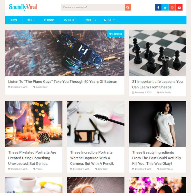 SociallyViral WordPress шаблон