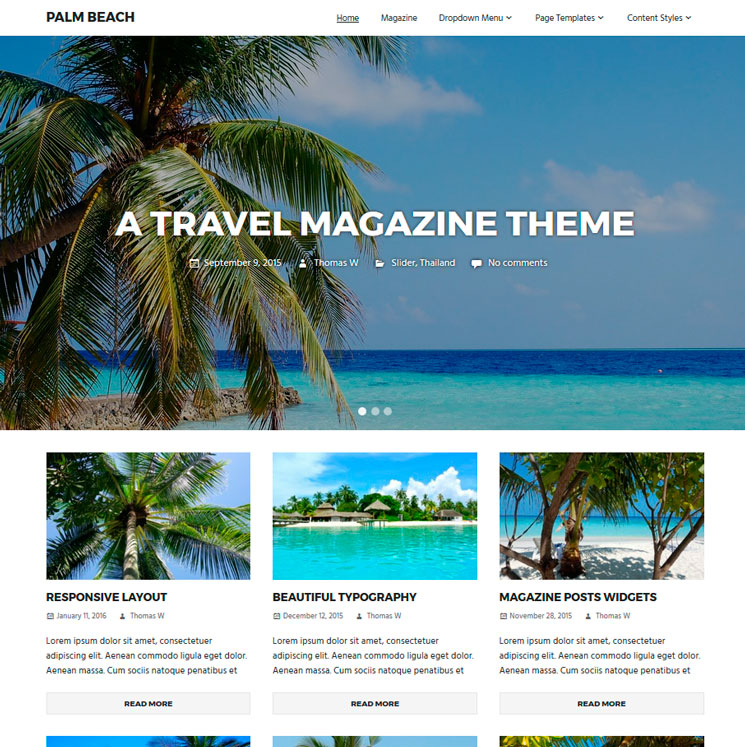 Palm Beach WordPress шаблон