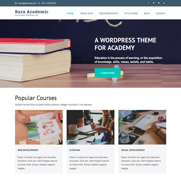 Rara Academic WordPress шаблон