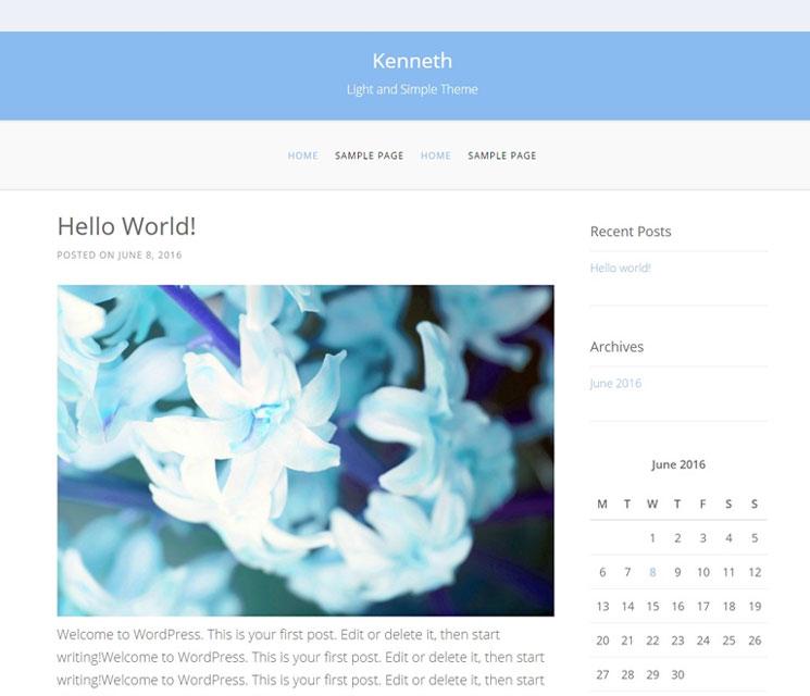 Kenneth WordPress шаблон