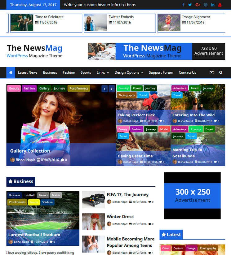 The NewsMag WordPress шаблон